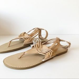 Mossimo | Nude strappy sandals